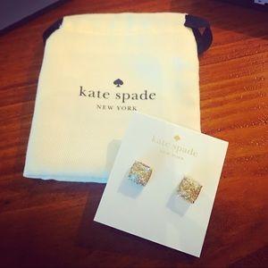 New Kate Spade Mini Small Square Stud Earrings